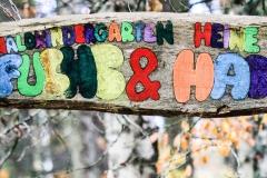Der Eingang zum Waldkindergarten